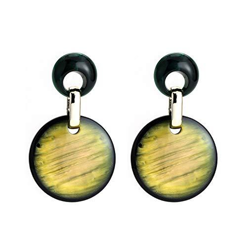2019 new Fashion Acetate plate big circular drop Earrings For Women Jewelry Brand geometric Dangle Earrings wholesale,yellow