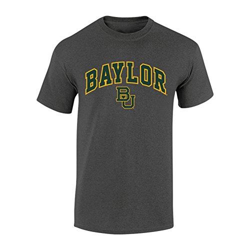 Elite Fan Shop NCAA Baylor Bears Mens NCAA T Shirt Dark Heather ArchNCAA T Shirt Dark Heather Arch, Dark Heather, (Baylor University Bears)