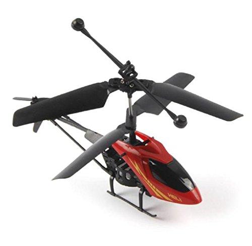 Mini Helikopter Covermason RC 901 2CH Funkfernbedienung Flugzeug Mikro-2-Kanal (Rot)