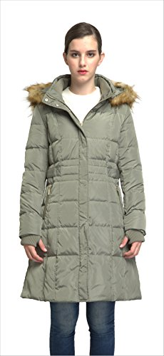 Orolay Women's Puffer Down Coat Winter Jacket With Faux Fur Trim Hood YRF8020Q (2XL, Armygreen)