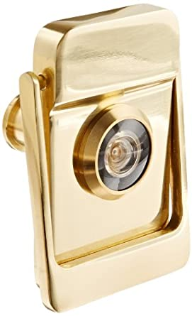 Rockwood 614V.3 Brass Door Knocker With Door Viewer, 2 1/8u0026quot