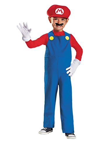 Disguise Nintendo Super Mario Brothers Mario Boys Toddler Costume, Medium/3T-4T (Mario And Luigi Costumes Kids)