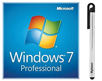 Windows 7 OEM COA 32 & 64 bit with keycode Bundled with a FREE silver Ryloon (R) Stylus Pen & FREE Jesus mousepad