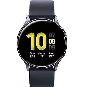 Samsung Galaxy Watch Active2 (Silicon Strap + Aluminum Bezel) Bluetooth - International (Aqua Black, R830-40mm)