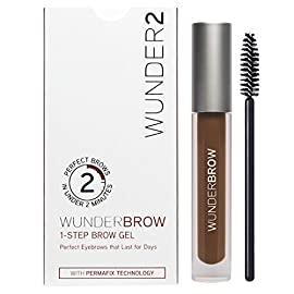 WUNDER2 WUNDERBROW Waterproof Eyebrow Gel for Long Lasting Makeup, Auburn