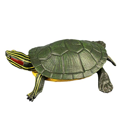 (High Simulation Brazilian Tortoise Animal Model Marine Organism Decoration for Children Playing (Green))