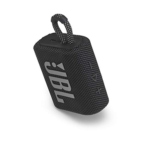 JBL Go 3: Portable Speaker with Bluetooth, Built-in Battery, Waterproof and Dustproof Feature - Black