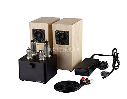 Nobsound Pure Handmade Mini 6J1×2 6P1×2 Vacuum Tube Amplifier; Desktop Single-ended Stereo Hi-Fi Amp with 2.25inch Speakers Nobsound