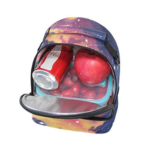 almuerzo térmica hombro ajustable de Stars Space el la pincnic correa para FOLPPLY para Planets Bolsa escuela de con KCR17yc