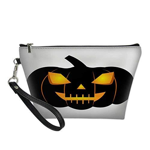 girls makeup bagcosmetic zipper bagabstract halloween pumpkin5 8.5