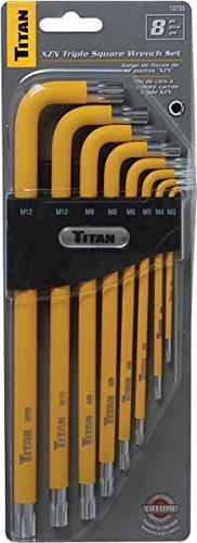 8/pi/èces Titan outils 12733/Triple carr/é de cl/és/ /Multicolore