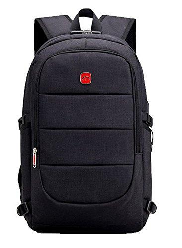 Femme Mode à Daypack TSFBH181070 AalarDom Daypacks Zippers Toile Randonnée Dos Sacs Noir de 5dxnqSx