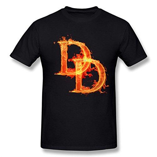 [BMWW Boy's Daredevil Cartoon Comics Costume Super Hero Cotton T Shirt black XL] (Daredevil Black Costumes)