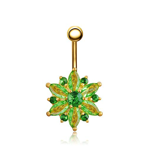 Jewelry Belly Button Rings Navel Body Jewelry Body Piercing Ring Navel Ring | color - Green ()