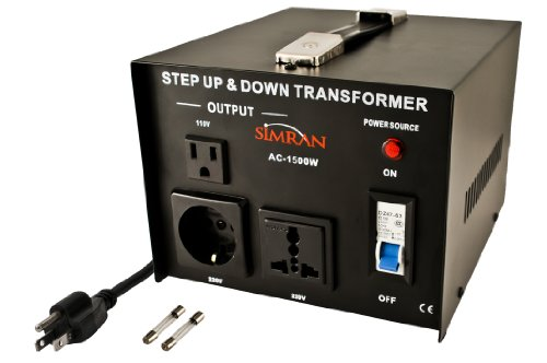 Simran AC-1500 Step Up/Down Voltage Converter Transformer 110V/220V - 1500 Watts