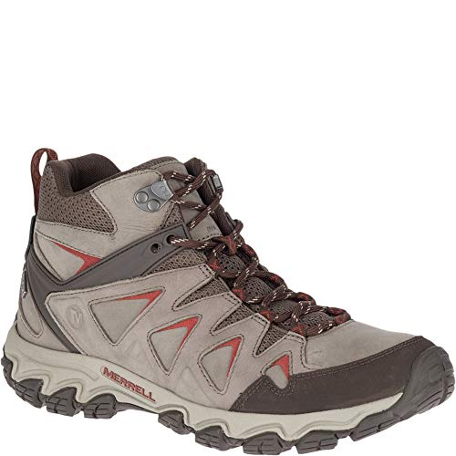 Merrell Men's Pulsate 2 MID LTR Waterproof Hiking Shoe, Boulder Wide, 14.0 W US