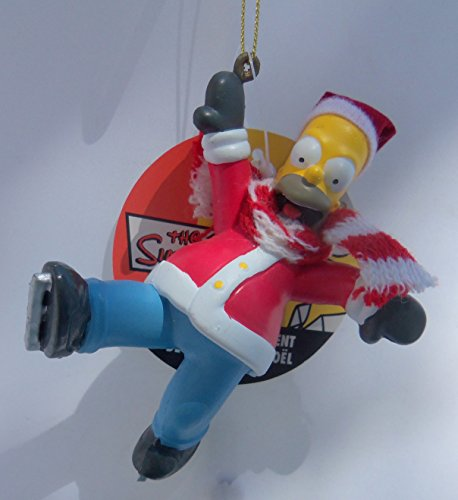 (Kurt Adler The Simpsons Santa Homer Ice Skating Christmas Ornament #SP0135)