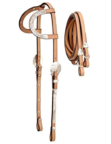 Royal King Double Ear Show Headstall w/Reins Horse