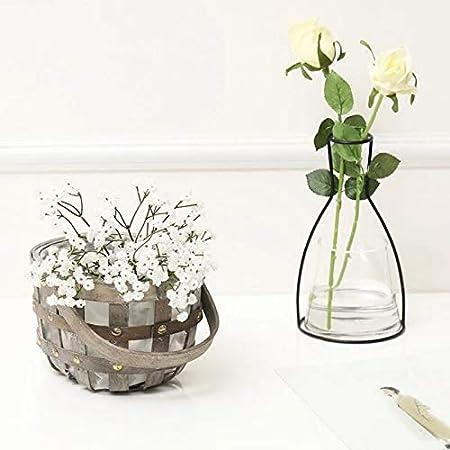 Amazon.com: Iron Vase - Nordic Flower Ornaments Black Lines ...