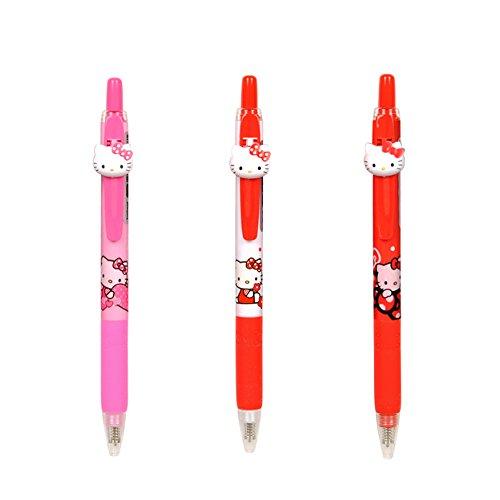 Sanrio Hello Kitty Mascot Black Ink Ballpoint Pen SET of 3
