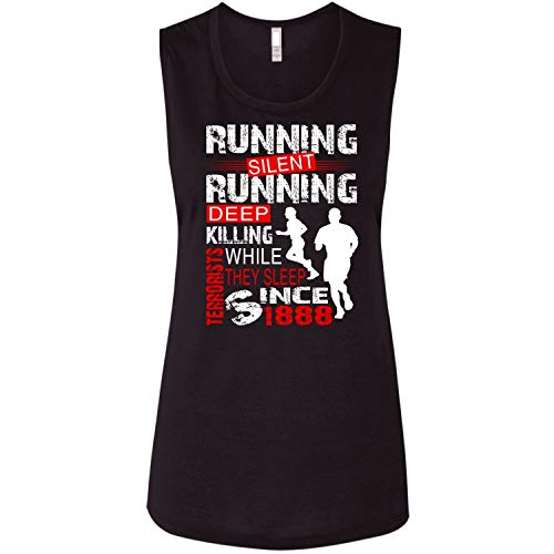 CNTSTORE Runing Silent Flowy Muscle Tank Top, They Sleep Since 1888 T Shirt - Flowy Muscle Tank (M, Black)