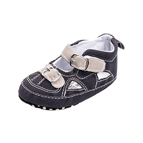 CHENGYANG Baby Kleinkind Jungen Niedliche Krippe Schuhe Anti-Rutsch Prewalker Soft Sohle Sandalen Schwarz
