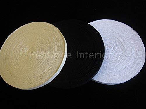Sew-Select Algodón India Twill Cinta - 50 Mt Carretes Negro Blanco Natural 2.5cm Costura Ribete - Multi: Amazon.es: Hogar