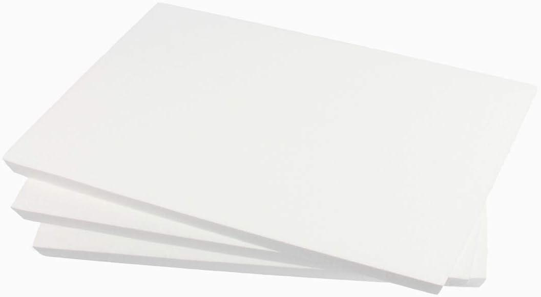 ZADAWERK® - Placa de poliestireno - 30x42x1 cm - 3 piezas