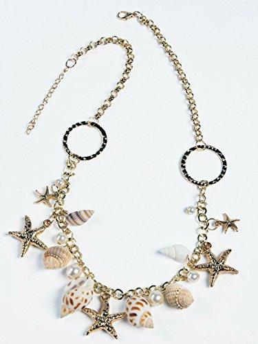 womens ladies fancy dress accessory SEA SHELL STARFISH PEARL MERMAID EARRINGS