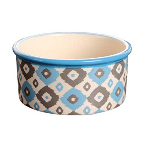 Porcelain Bone Pets Bowls Dogs Cats Bowls Pet Supplies Cat Accessories - Blue