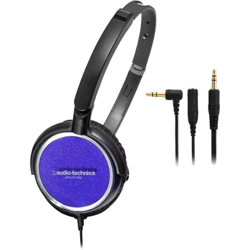 Audio Technica ATH-FC700A Portable Headphones with 40mm Neodymium Drivers, Purple (Discontinued by Manufacturer) by Audio-Technica