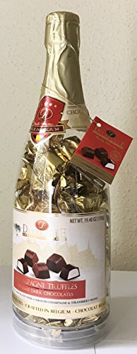 DELAFAILLE CHAMPAGNE TRUFFLES FILLED DARK CHOCOLATES Gift Bottle Net Weight 19.40 OZ