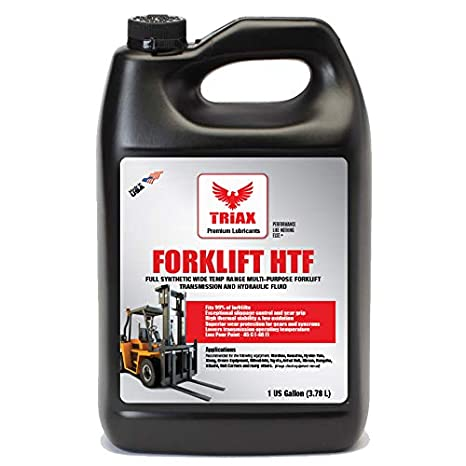 Triax Multipurpose Forklift Hydraulic & Transmission Oil - Hydrostatic  Transmission & Hydraulic Oil - Fits 99% of All forklifts - Full Synthetic  (1