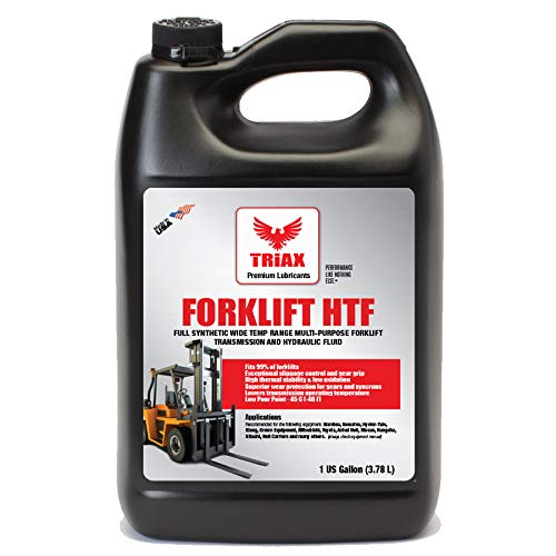 Triax Multipurpose Forklift Hydraulic & Transmission Oil - Hydrostatic Transmission & Hydraulic Oil - Fits 99% of All forklifts - Full Synthetic (1 Gallon (Pack of - Hydraulic Forklift