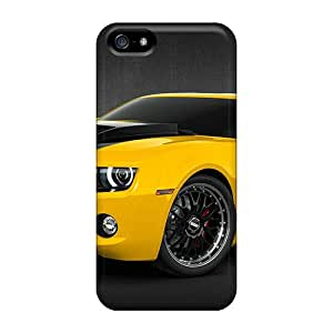 Flexible Tpu Back Case Cover For Iphone 5/5s - 2010 Chevy Camaro Yellow