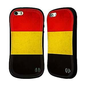 Head Case Designs Belgium Belgian Vintage Flags Hybrid Case for Apple iPhone 5 / 5s / SE