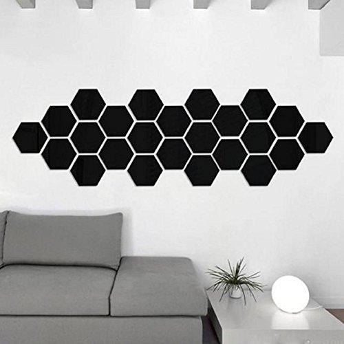 12PCS 3D Removable Mirror Wall Sticker Vinyl Decal Decor Decoration Art - 3