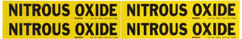 Nitrous Legend - Brady 7202-4 Self-Sticking Vinyl Pipe Marker, B-946, 1 1/8