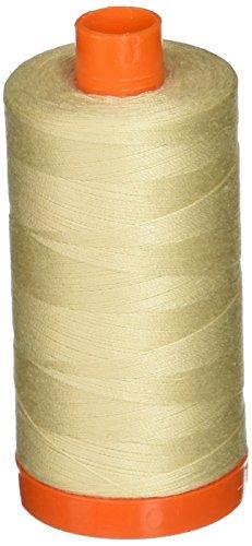 Aurifil A1050-2310 Mako Cotton Thread Solid 50WT 1422Yds Light Beige -