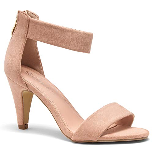Herstyle RROSE Women's Open Toe High Heels Dress Wedding Party Elegant Heeled Sandals Mauve 10.0