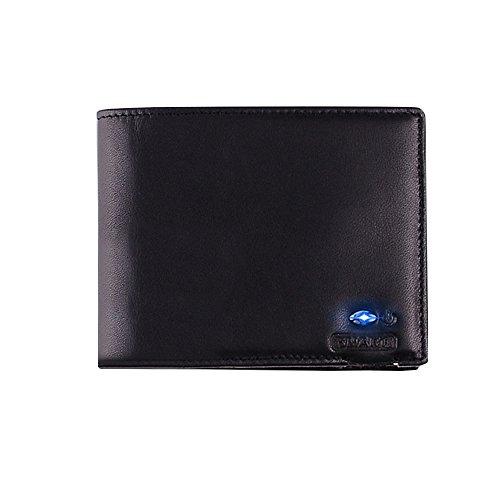 Kukoo Smart Bluetooth Anti-theft Slim Wallet Cowhide Leather Bifold Purse by Kukoo