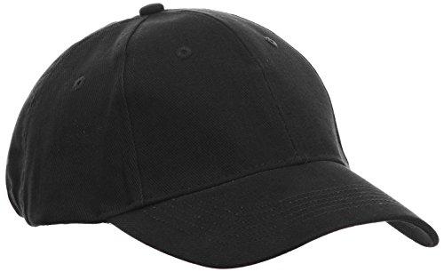 Anvil Unisex Contrast Low Profile Twill Baseball Cap / Headwear (One Size) (Black)