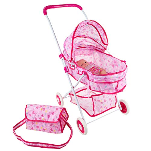 Hey! Play! Deluxe Toy Pram for 18
