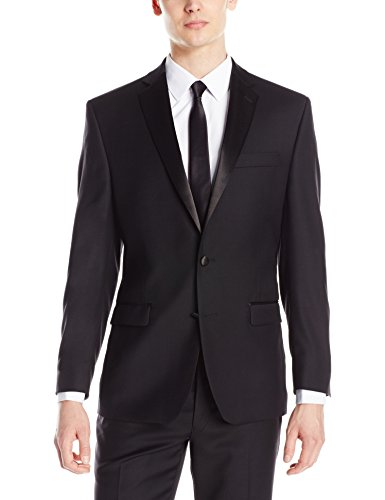 odern Fit 100% Wool Tuxedo Separate Jacket, Black, 44 Regular (Mens Black Tuxedo Jacket)