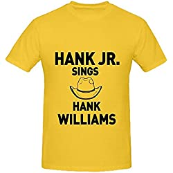 Hank Williams Songs Like Cold Cold Heart, I'm So Lonesome I Could Cry, And More Tour Soul Mens O Neck Music Shirts Yellow