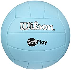 Amazoncom Wilson Outdoor Soft Play Volleyball Blue Sports