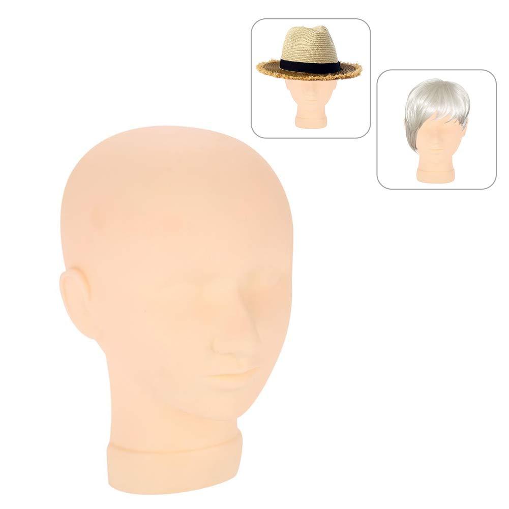 Testa di manichino, mezza testina in silicone morbido per cappucci per parrucche e dettagli per il viso in 3D per l'estensione delle ciglia Brrnoo