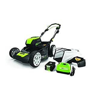 GreenWorks Pro MO80L510 80V 21-Inch Self-Propelled Cordless Lawn Mower, 5Ah Battery and Charger Included