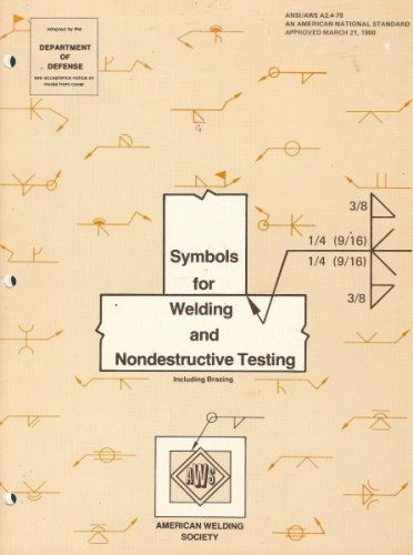 Symbols for welding and nondestructive testing, including brazing