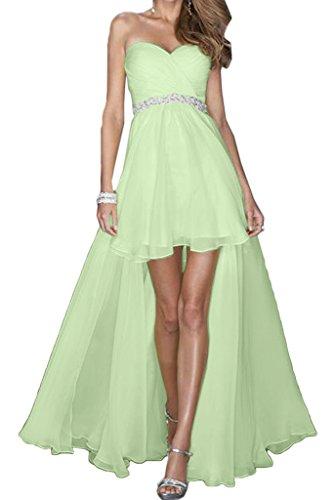 Ballkleid Lang Lo Festkleid Ivydressing Abendkleid Herzform Grün Damen Einfach Hi Partykleid Promkleid Chiffon TznpT84